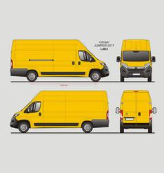 Citroen jumper cargo delivery van 2017 l4h3 vector