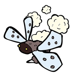 comic cartoon bug vector image vector image