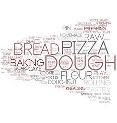 Dough word cloud concept vector