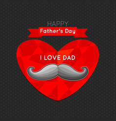 fathers day poster fathers day greeting card vector image vector image