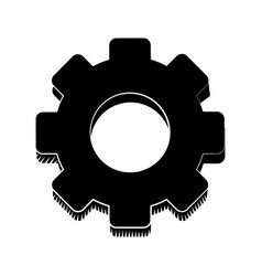 Gear engineer work cooperation pictogram vector