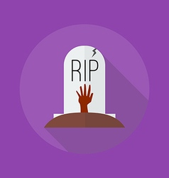Halloween flat icon grave vector