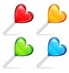 Heart lollipops vector