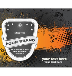 Label with grunge vector