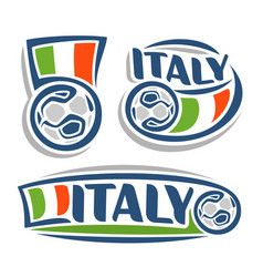 logo for italian football vector image vector image