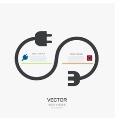 Modern plug background infographic vector