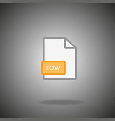 Raw icon raw format symbol raw sign vector