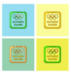Sign symbol olympics games set vector