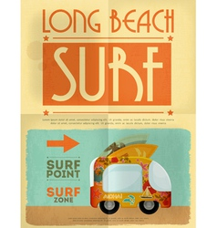 surf poster vector image vector image