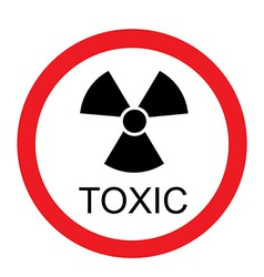 Toxic sign vector image