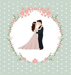 Wedding couple bride and groom wedding couple vector