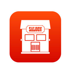 western saloon icon digital red vector image