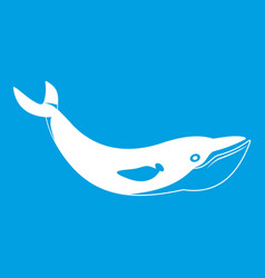 Whale icon white vector