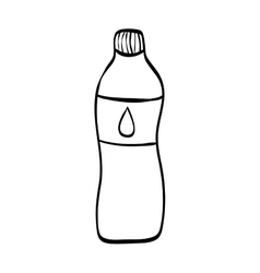Natural water bottle vector image