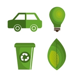 Eco green environmental poster vector