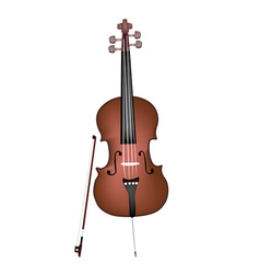 A beautiful brown cello on white background vector