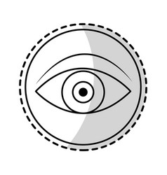 Single eye icon image vector