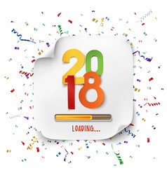 happy new year 2018 loading colorful desig vector image