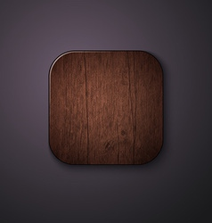 Wooden texture icon stylized like mobile app vector