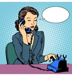Business woman talking phone vector image