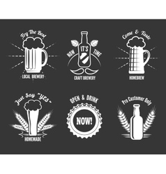 Beer craft labels vector