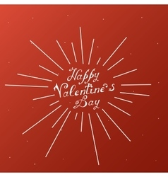 Happy valentines day vintage lettering background vector
