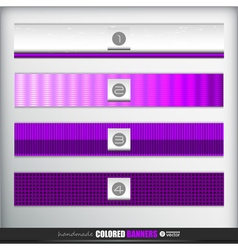 Handmade banners or bars set for design vector