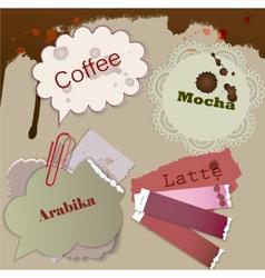 speech coffee element vector image