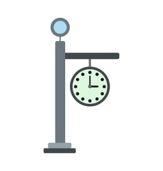 Street clock icon vector