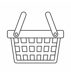 Shopping basket icon outline style vector