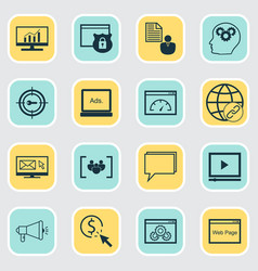 Advertising icons set collection of intellectual vector