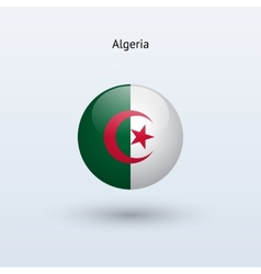 Algeria round flag vector image vector image
