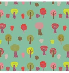 autumn trees background vector image