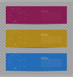 Banner design background set vector