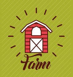 Big farm flat vector