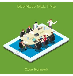 Business 02 People Isometric vector image