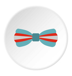 Butterfly tie icon circle vector