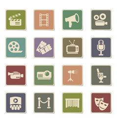 Cinema icon set vector