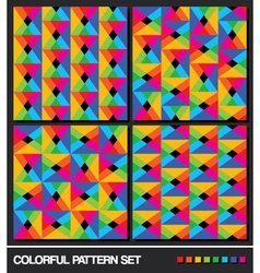 colorful pattern set vector image vector image