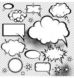 comic bubbles collection vector image