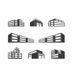 Dimensional building as a design web icons vector