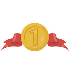 gold medal in flat vector image