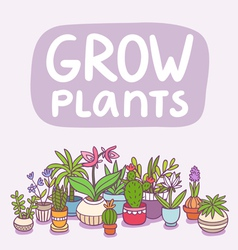 Grow plants vector