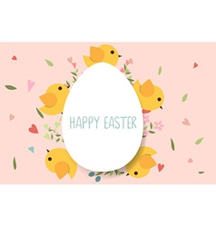 Happy easter cards with Easter eggs vector image vector image