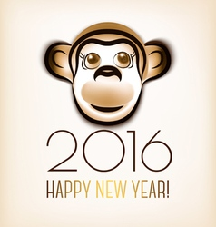 Happy new year 2016 year of the monkey vector