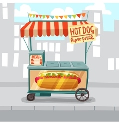 Hot Dog Street Shop vector image