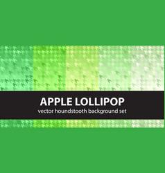 Houndstooth pattern set apple lollipop vector