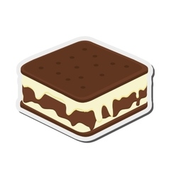Ice cream sandwich icon vector