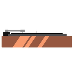 isolated turntable icon vector image