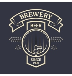 Keg beer and ribbon for your text vector
